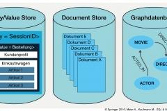 Abb.1.11 Drei unterschiedliche NoSQL-Datenbanken