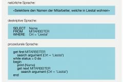Abb.1.5 Unterschied swischen deskriptiven und prozeduralen Sprachen