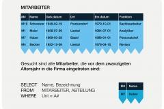 Abb. 6.3 Tabelle MITARBEITER mit Datentyp DATE